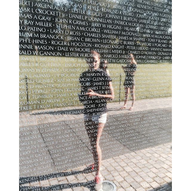 Thank you to all the veterans who have fought for freedom!  Pictured: A candid moment of an HonorSociety.org member at the Vietnam Veteran's Memorial. #veteransday #thankyou - HonorSociety.org