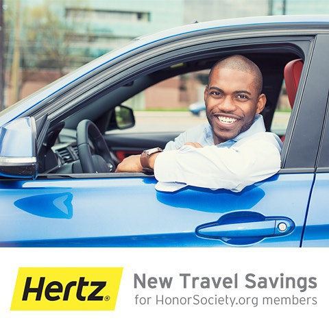 Announcing the Hertz discount for HonorSociety.org members! Active HonorSociety.org members receive Hertz Gold Plus status & discounted rates. To redeem now or for more information, visit hertz.com/honorsocietyorg - HonorSociety.org