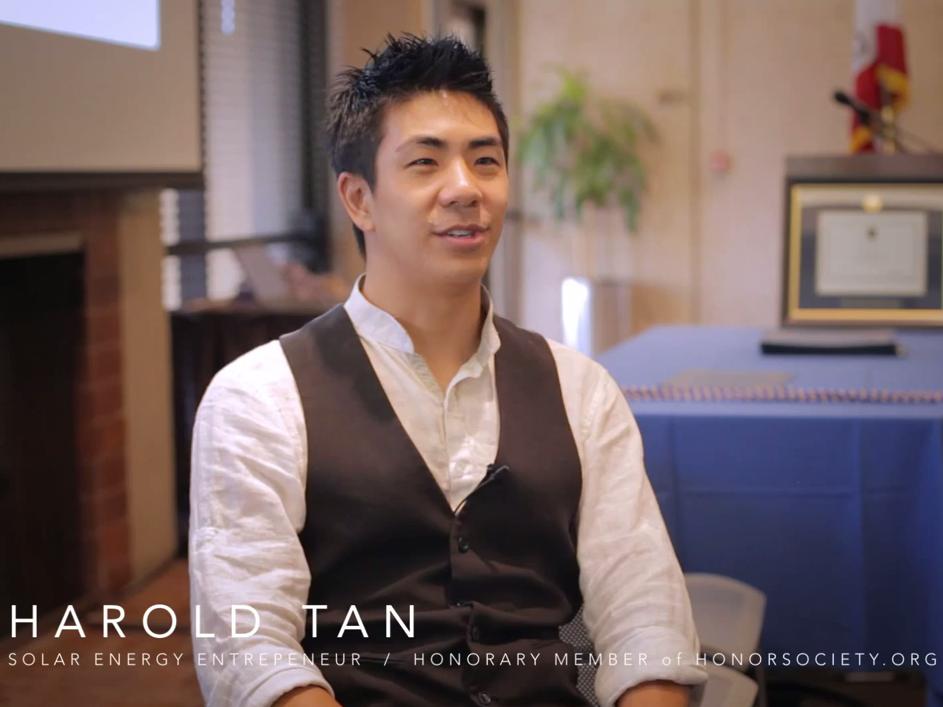HonorSociety.org speaker Harold Tan