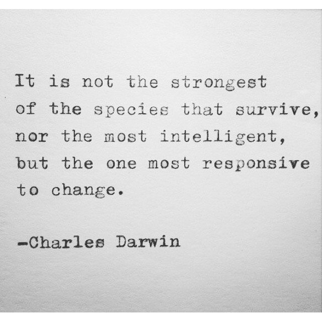 Make that change and adapt today. #hsorg #adaption - HonorSociety.org