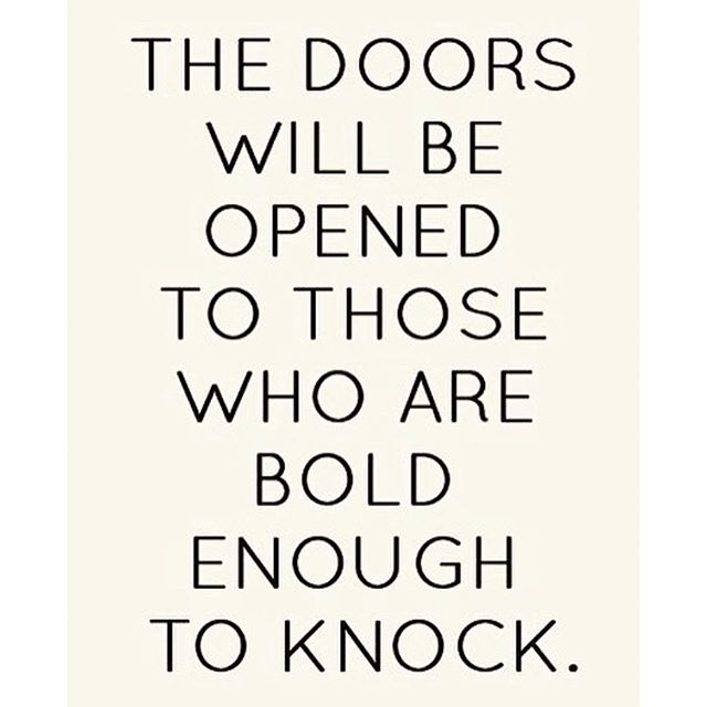 Always put yourself out there...you never know if today is the day a door will open for you! #hsorg - HonorSociety.org