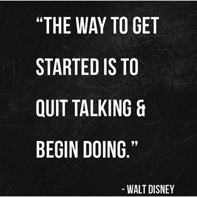 Walt knows the  to success...The hardest part is starting. #hsorg #starttoday - HonorSociety.org
